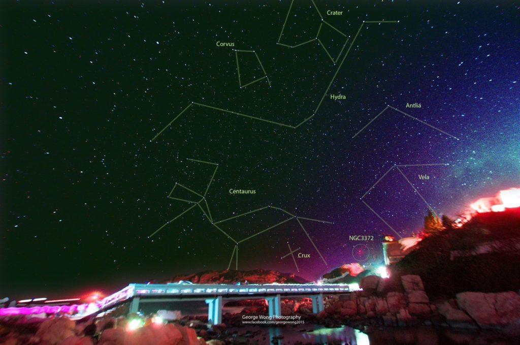 在石澳拍攝的南方星空