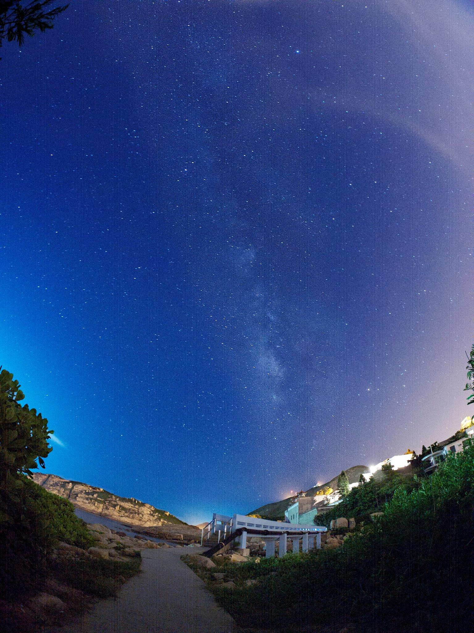 攝於石澳的夏季銀河