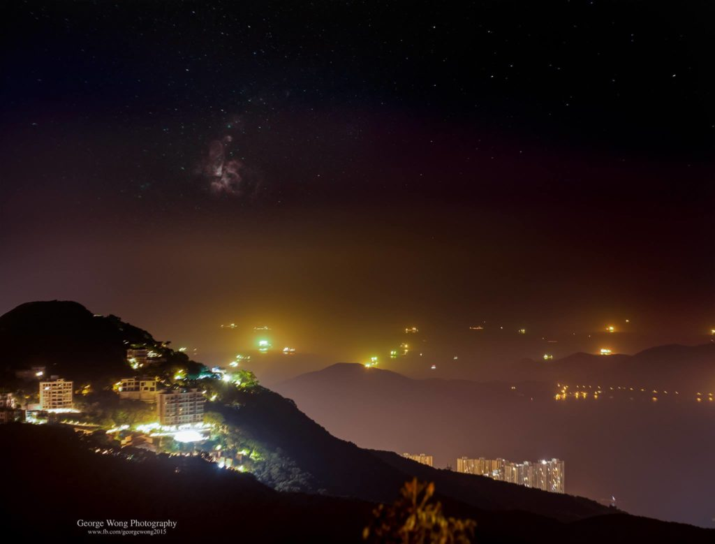 在山頂公園拍攝的船底座星雲