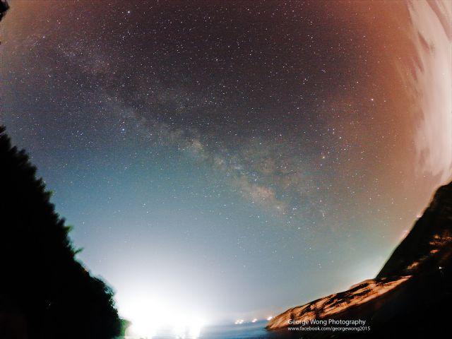 在石澳拍攝的夏季銀河