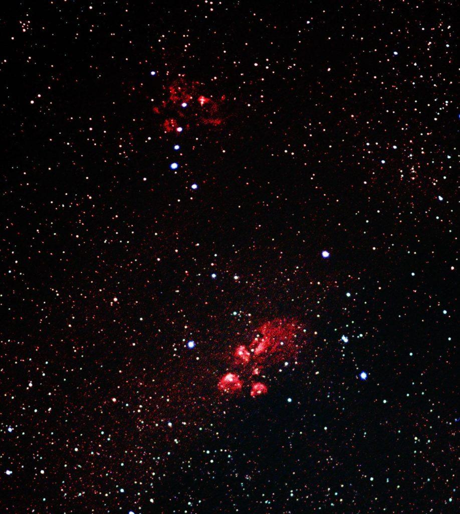 NGC6334 貓爪星雲和NGC6357 龍蝦星雲