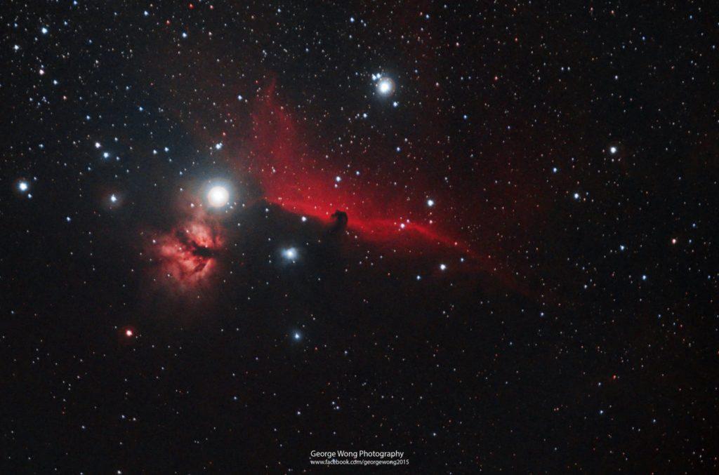 馬頭星雲 (Barnard 33)和火焰星雲(NGC2024)