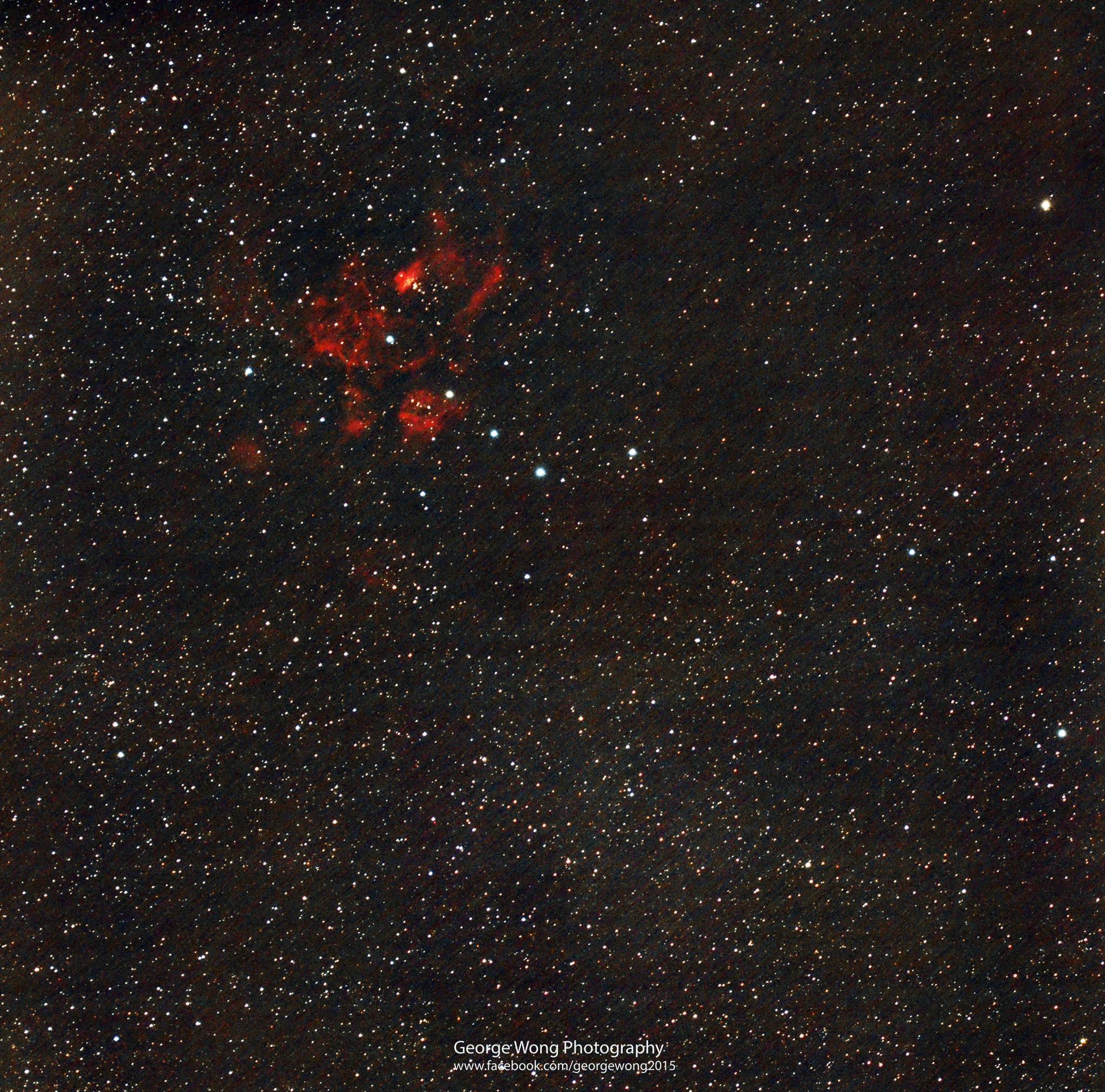 用Borg 71FL所拍的第一張天文照片: NGC6357 龍蝦星雲
