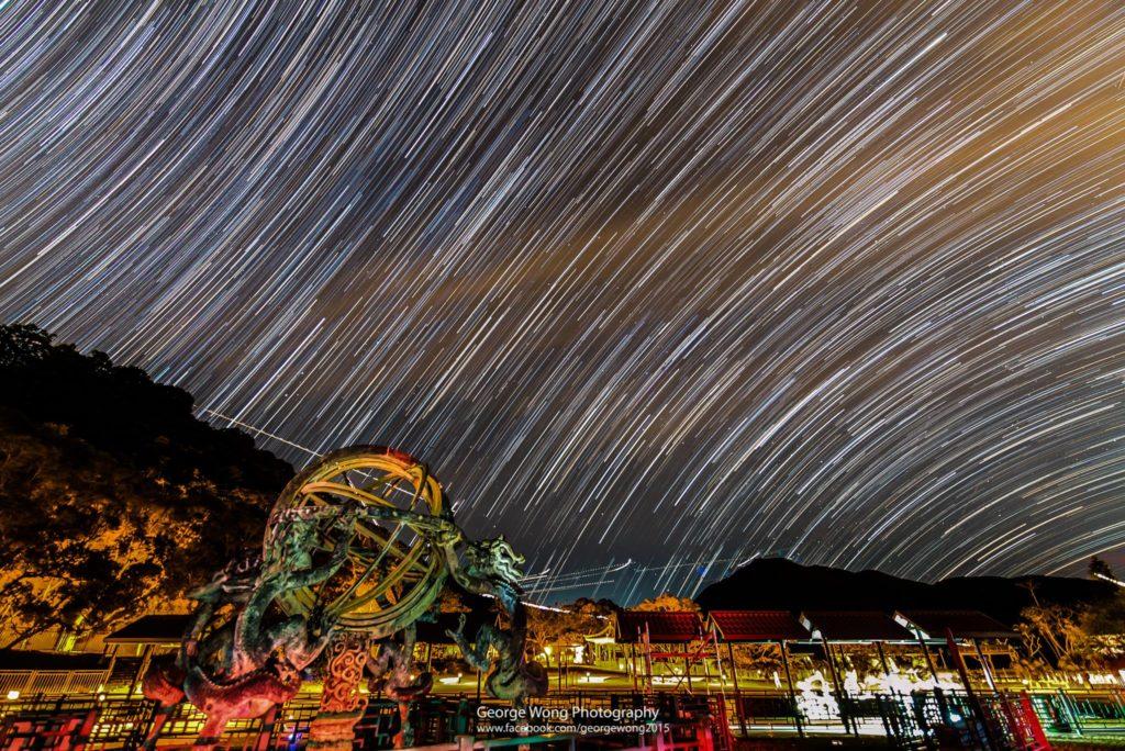 攝於天文公園的星流跡,曝光55mins