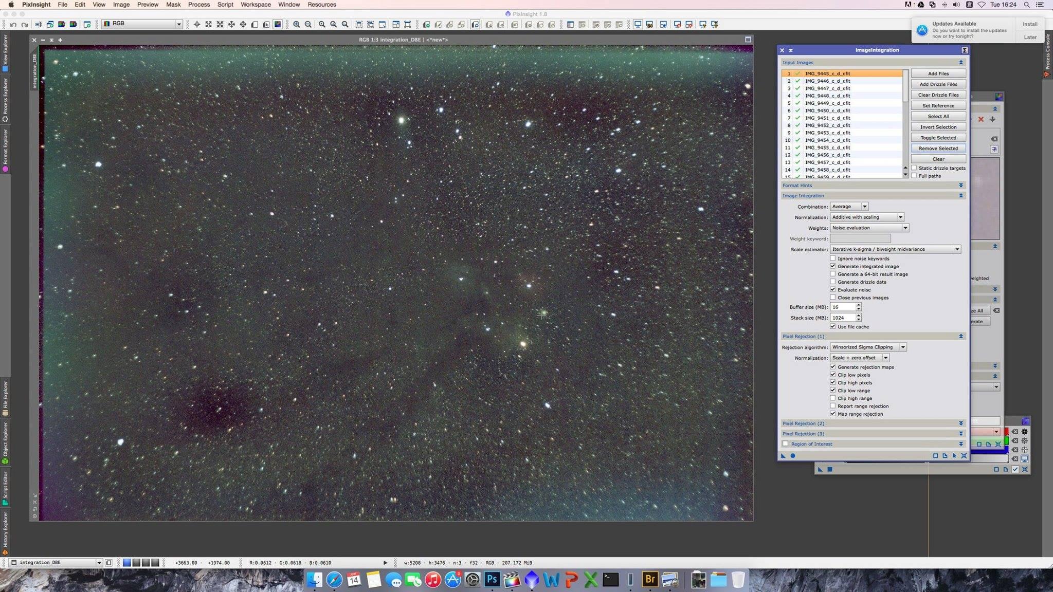 星途13 – 轉用功能強大的PixInsight – 2014 Spet