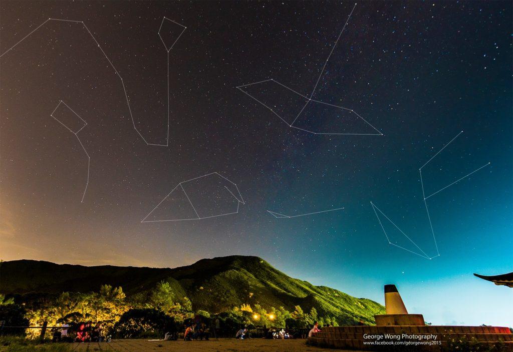 攝於大坳門,可望見北極星。