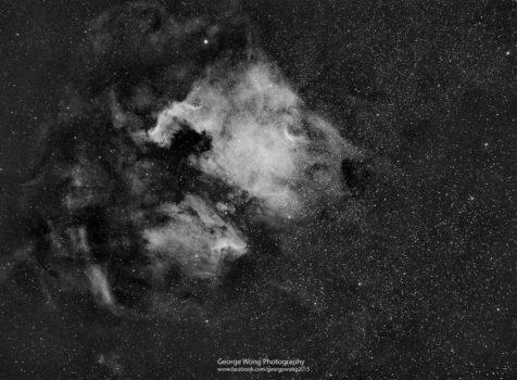 星途21 – 第一張窄頻相片:北美洲星雲Ha – 2015 Sept