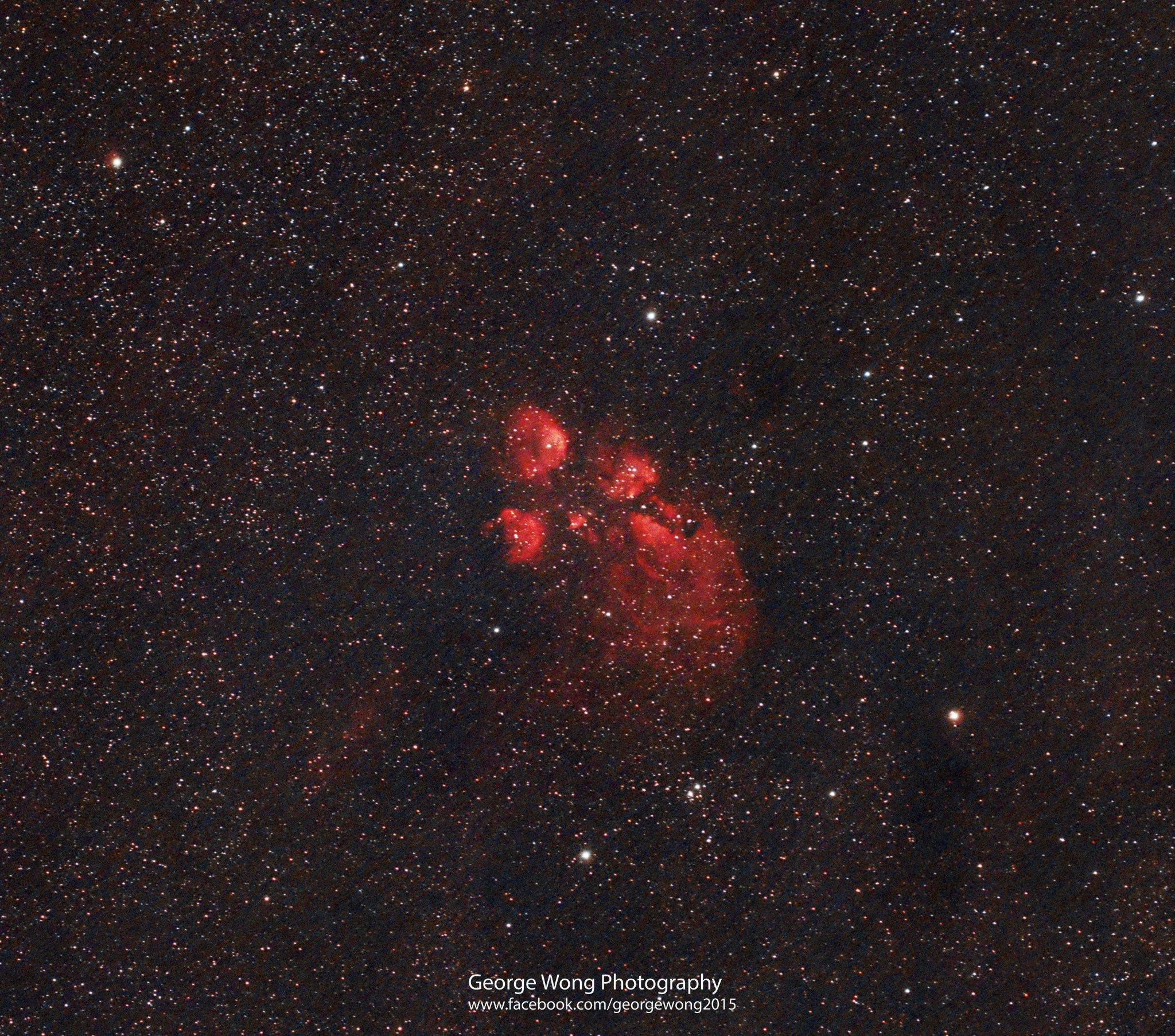 第一個用ZEQ25拍攝的目標:貓爪星雲