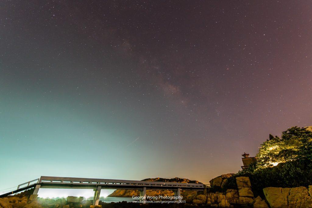天清日子,不難在石澳拍攝到夏季銀河