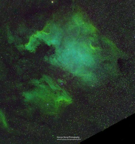第一次處理北美洲星雲SHO