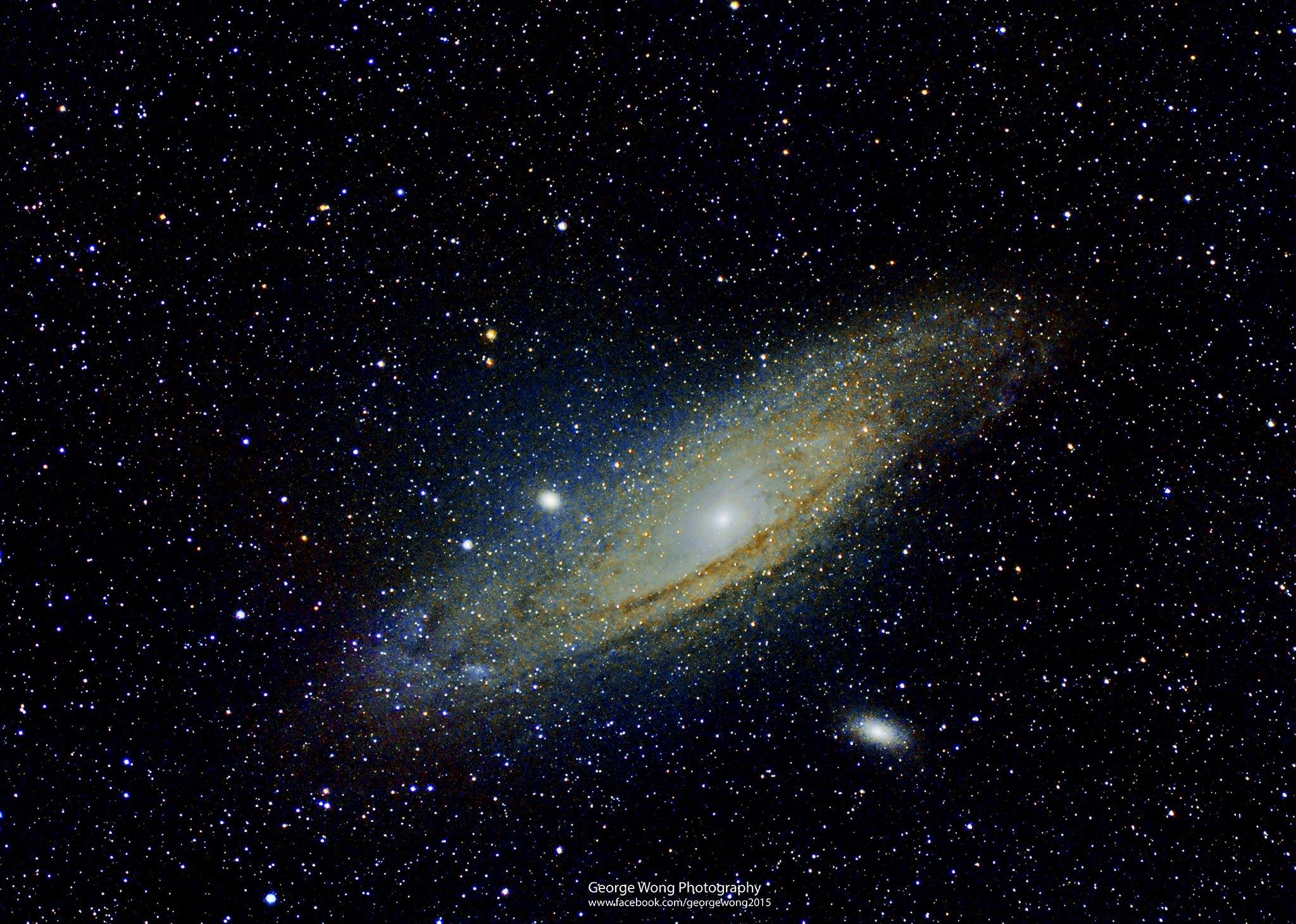 用Borg 71FL拍攝的M31