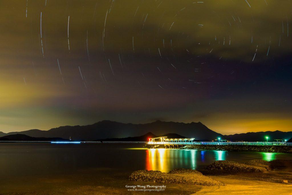 攝於烏溪沙碼頭的星流跡