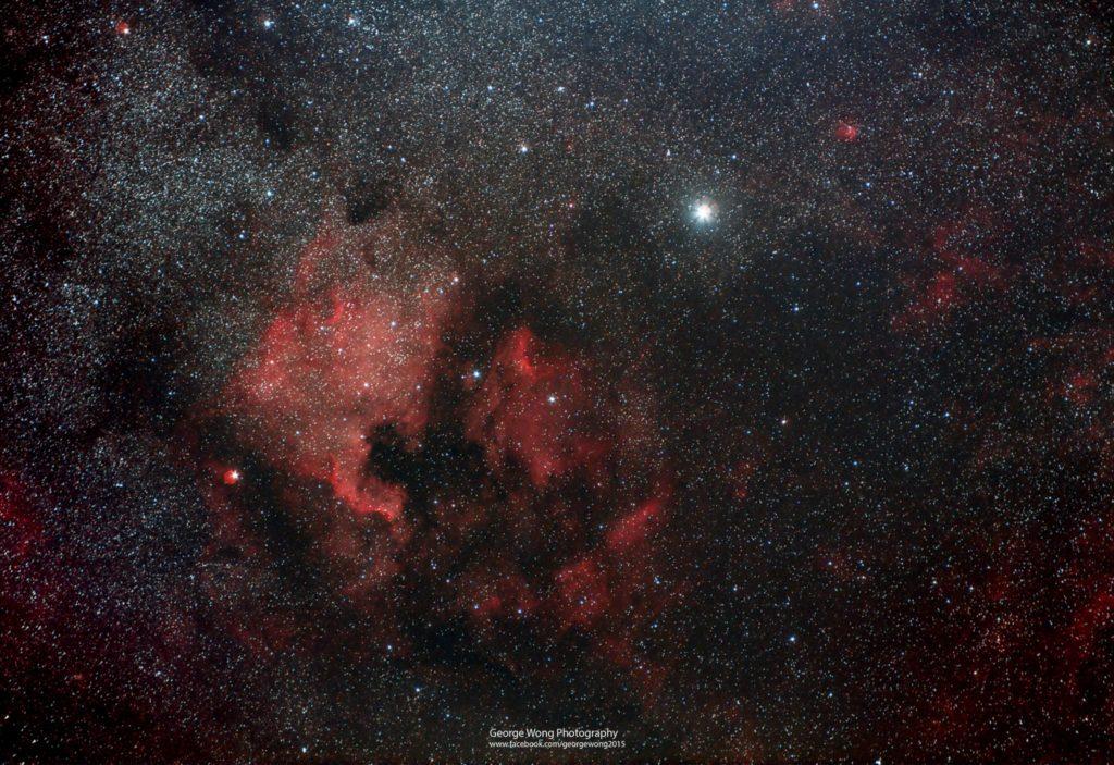 攝於石澳的NGC7000北美洲星雲。2015年Retouch