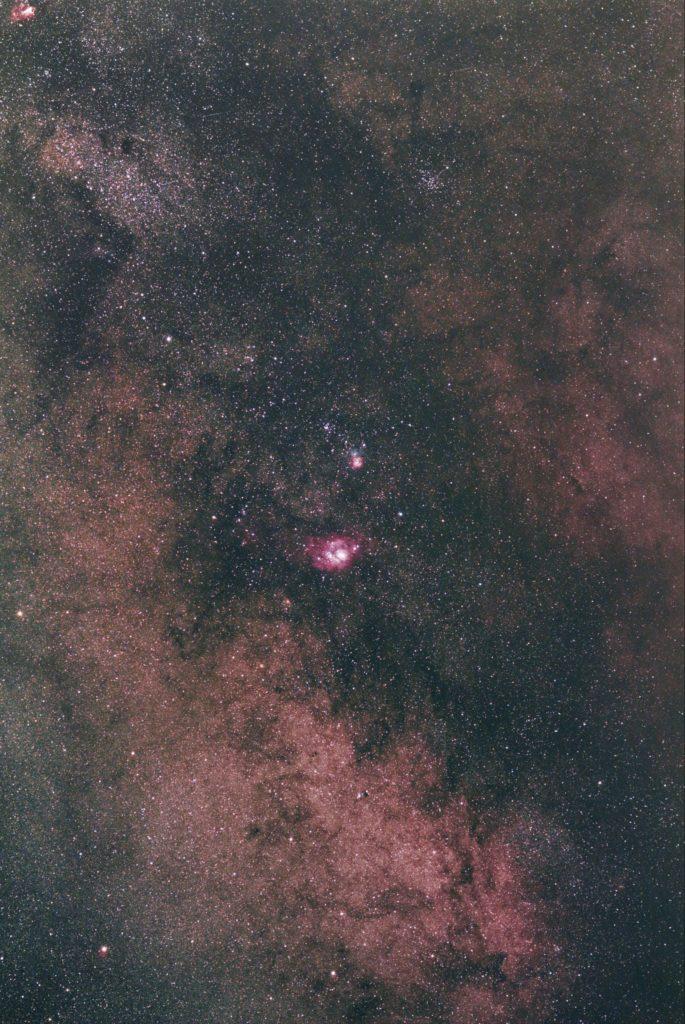 M8礁湖星雲 和M20三葉星雲 星雲