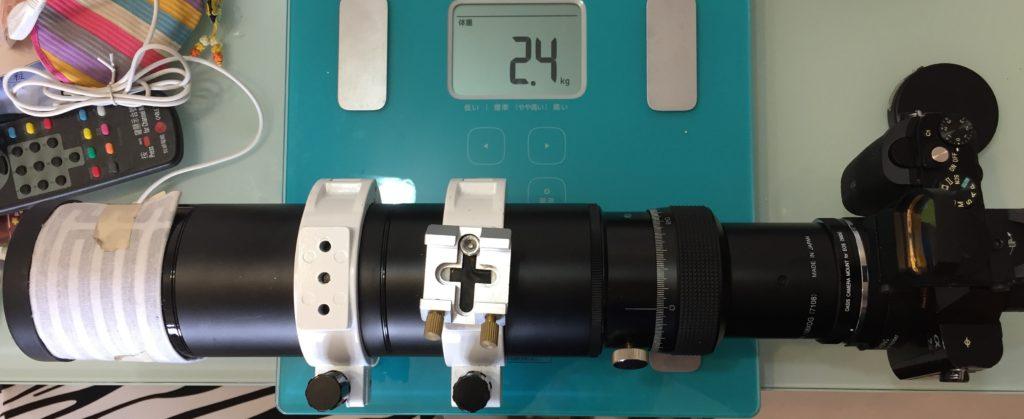 鏡加相機重量約2.4kg